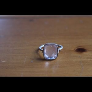 Jewelry - Freitag Silver ring with rose quartz